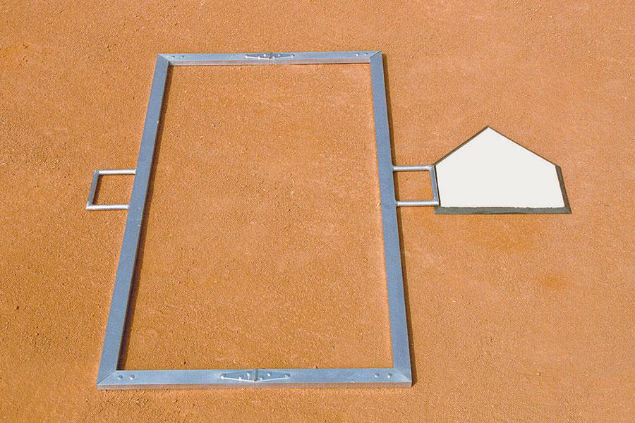 Foldable Batter's Box Template