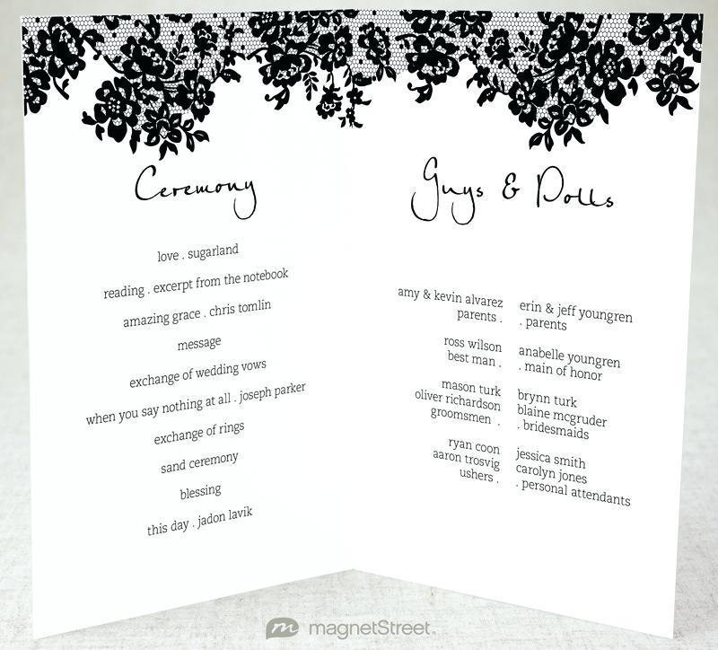 Foldable Wedding Program Templates