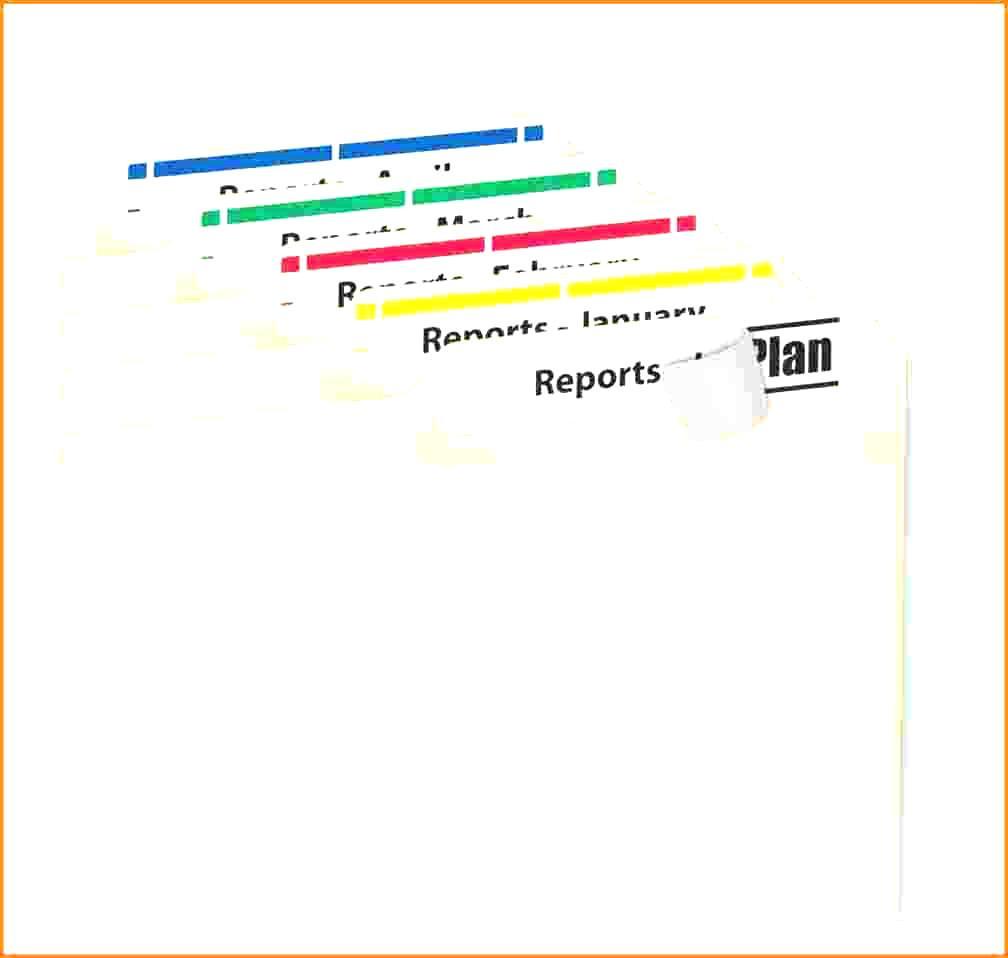 Folder Labels Template