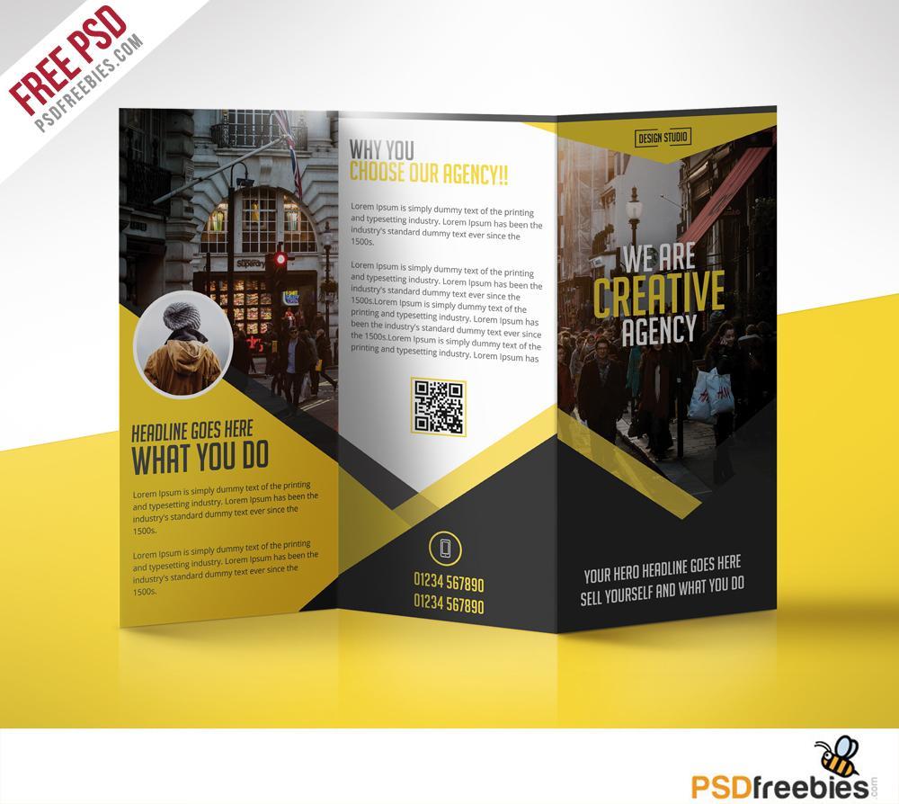 Folding Brochure Template Photoshop