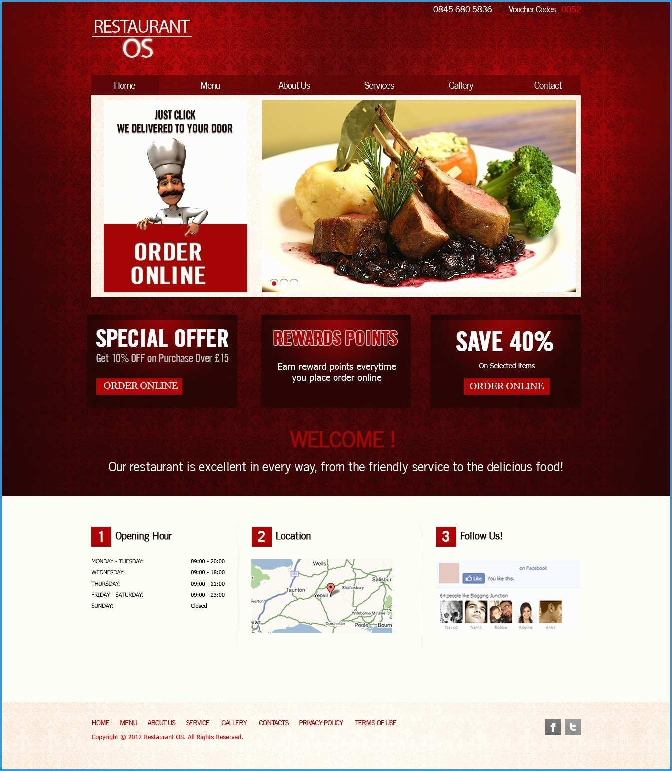Food Catering Website Templates Free