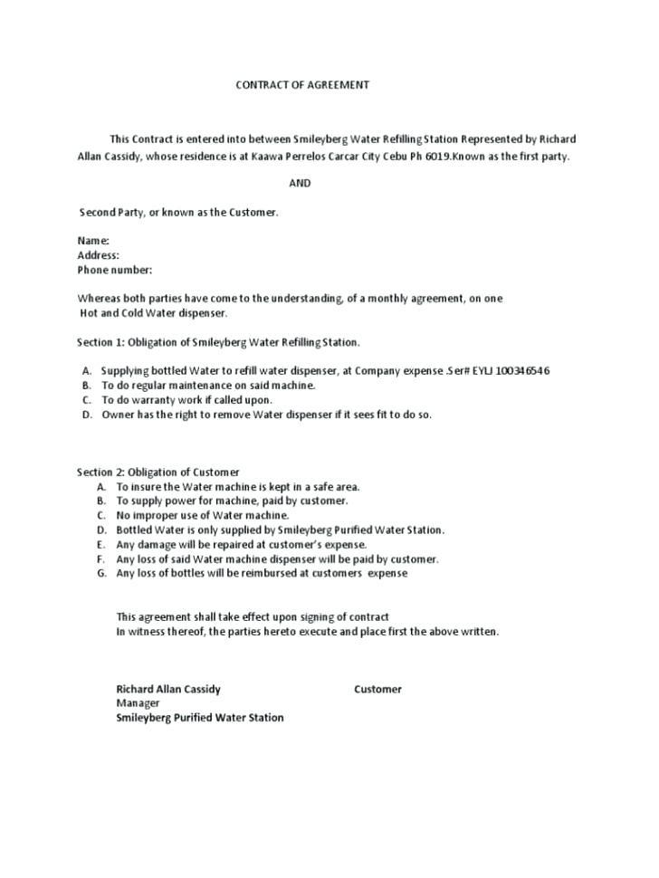 Food Contract Manufacturing Agreement Template