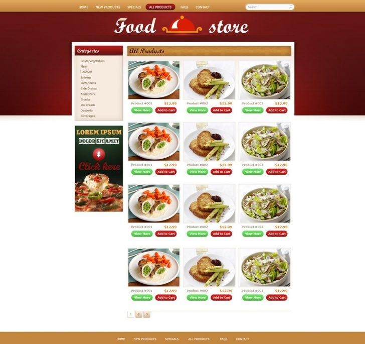 Food Delivery Website Templates Free Download