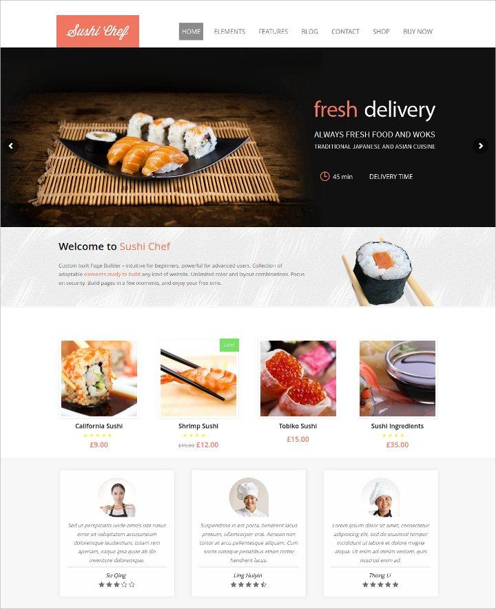 Food Ordering Website Templates