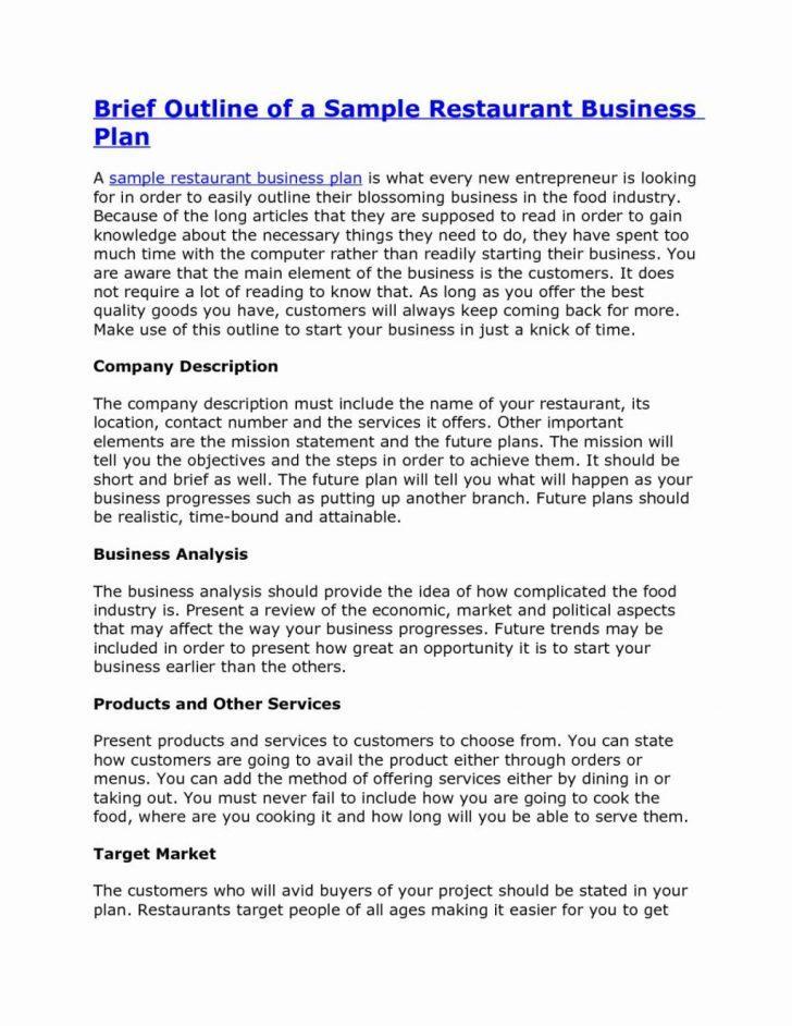 Food Truck Business Plan Template Pdf