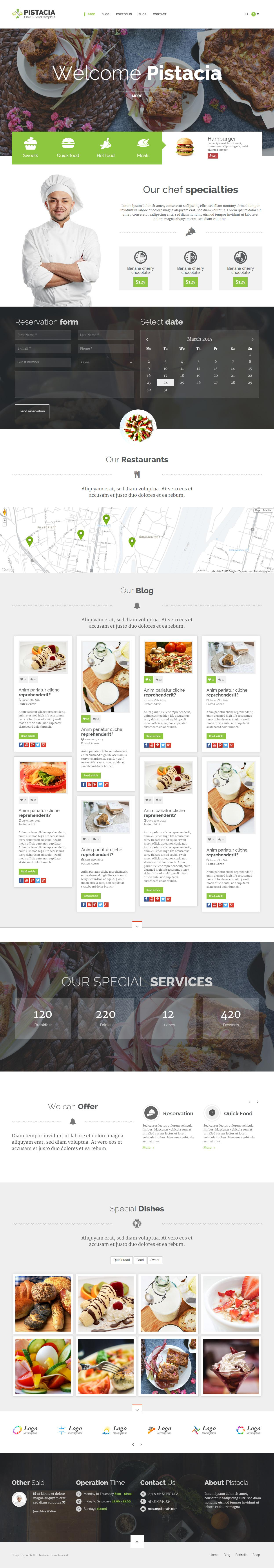 Food Website Templates Html5