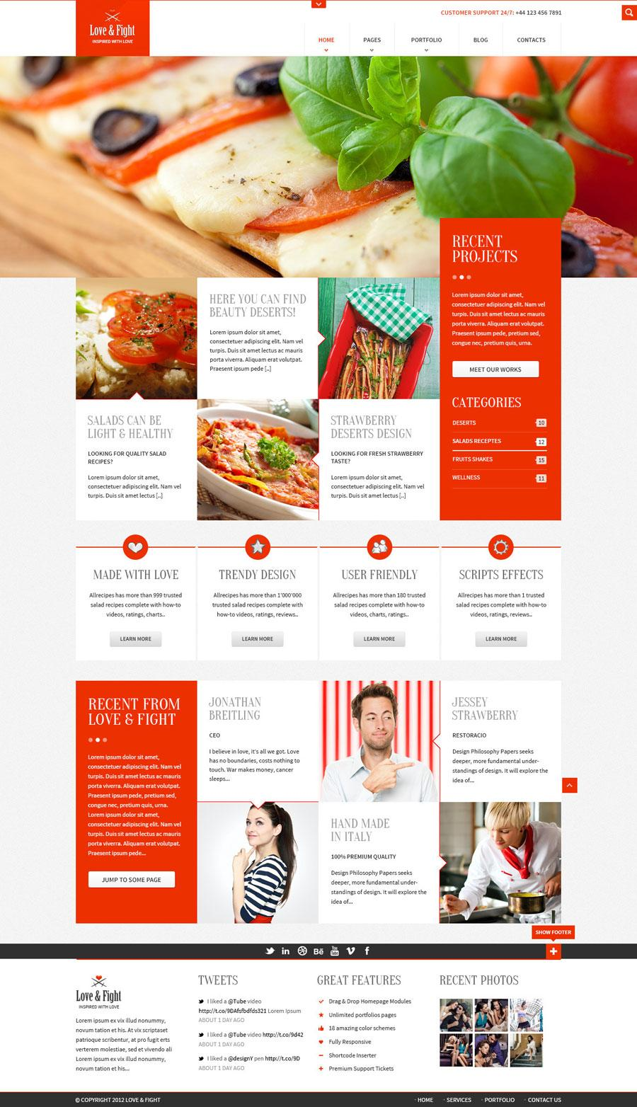 Food Website Templates Psd Free Download