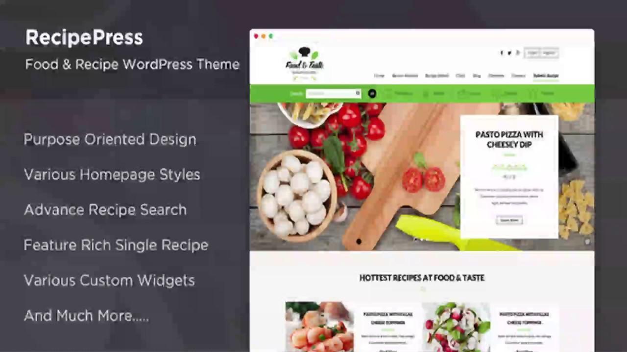 Food Website Templates WordPress