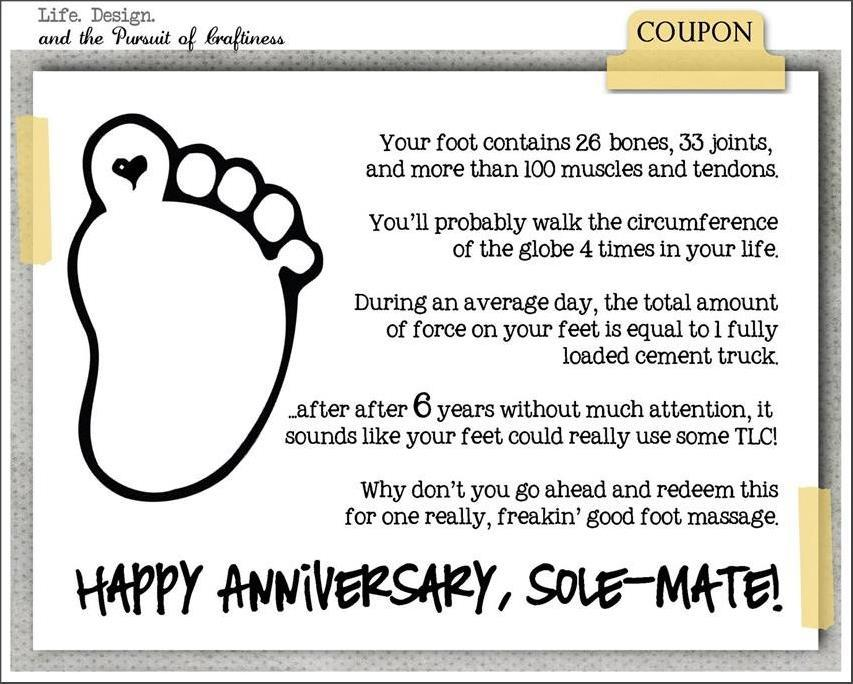 Foot Massage Gift Certificate Template