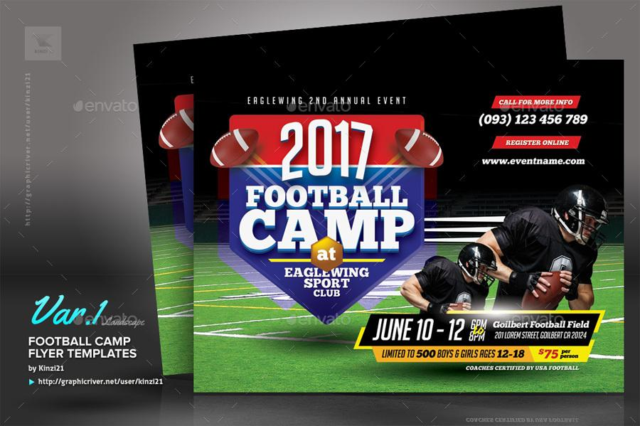 Football Camp Flyers Templates