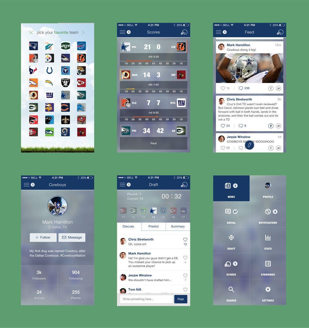 Football Mobile App Ui Psd