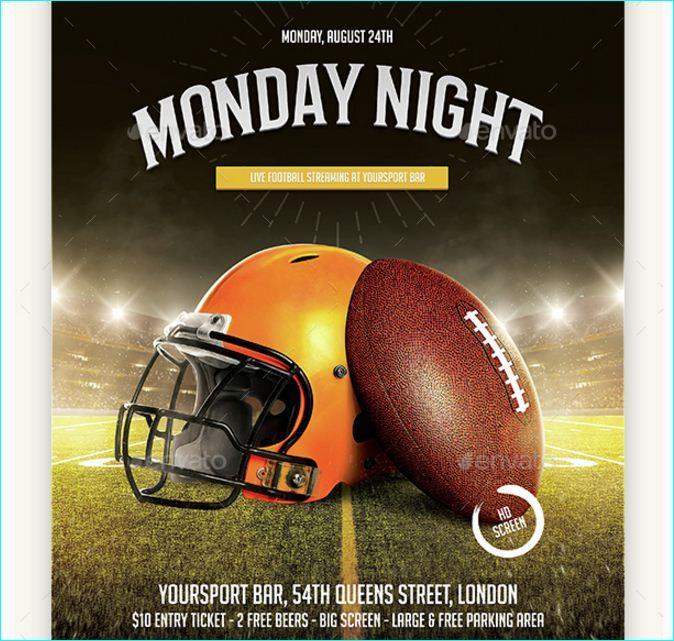 Football Party Flyer Templates