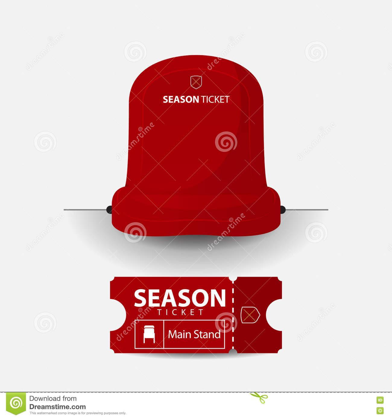 Football Season Ticket Template