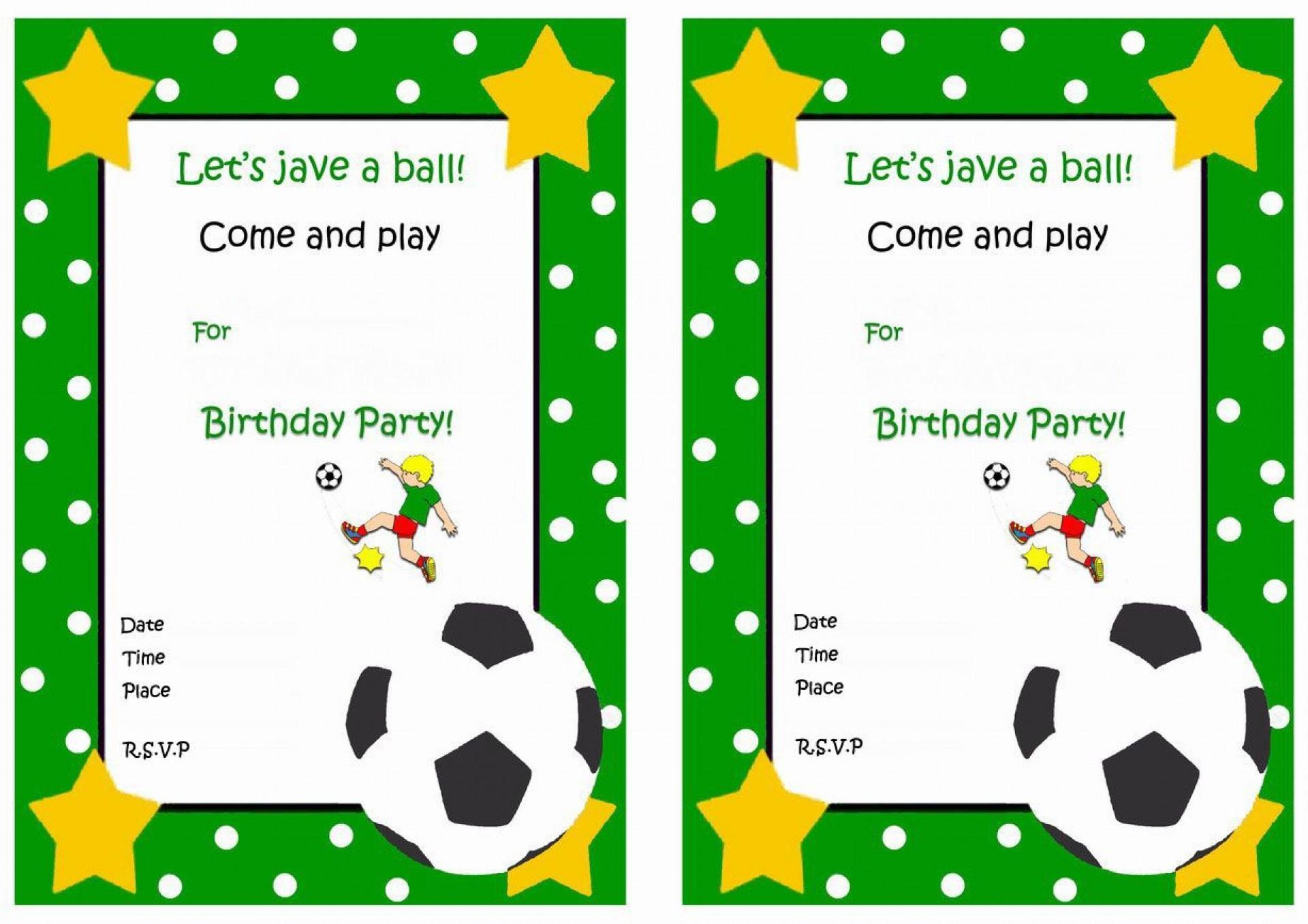 Football Ticket Birthday Invitation Template Free