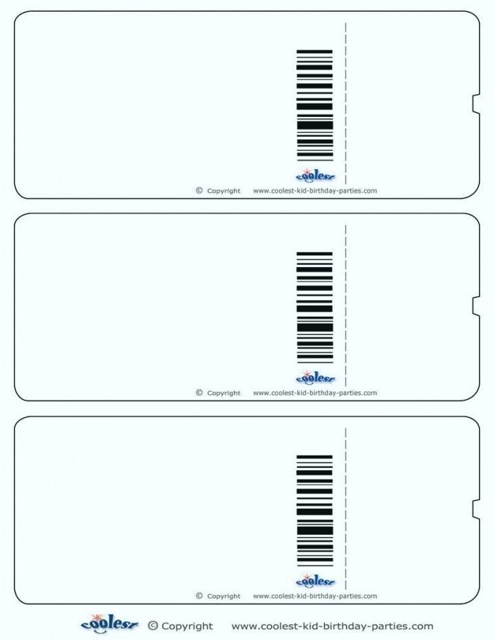 Football Ticket Template Photoshop