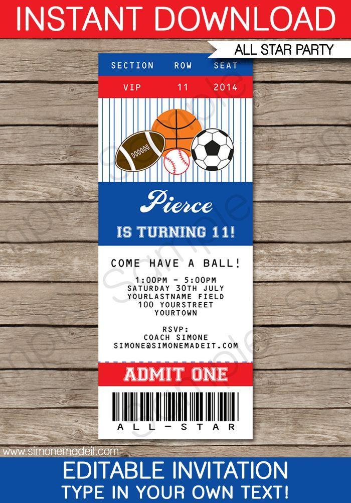 Football Ticket Template Uk