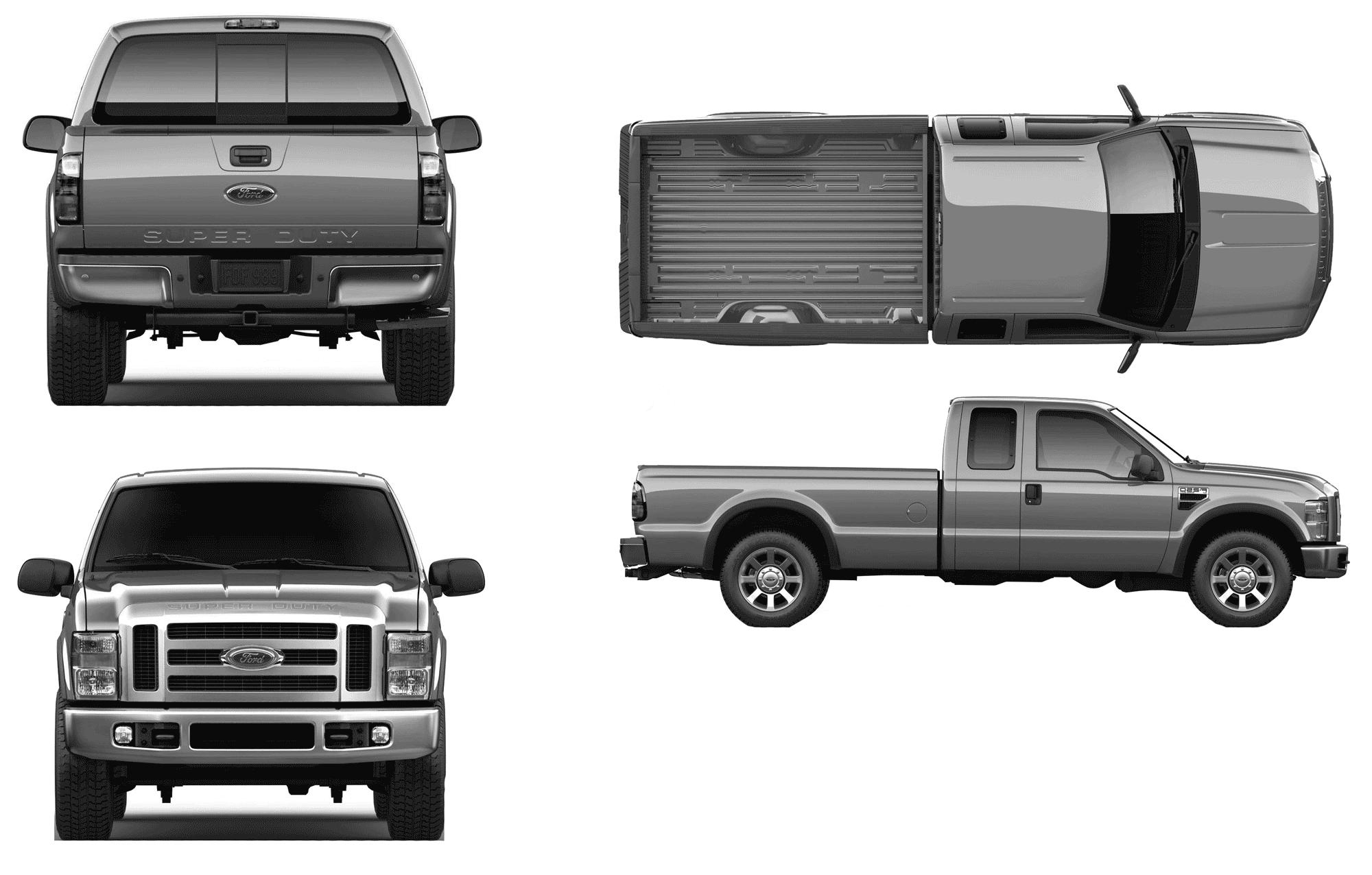 Ford Truck Wrap Template