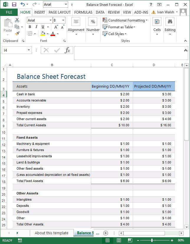 Forecast Excel Templates