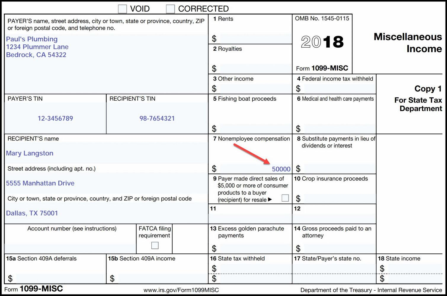 Form 1099 Template