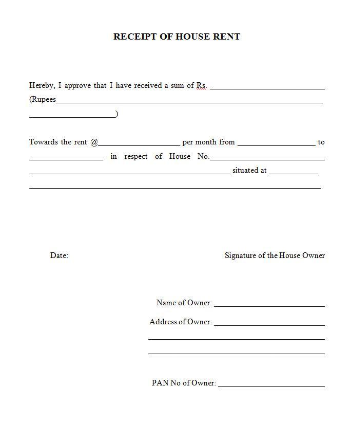 Form Rent Receipt