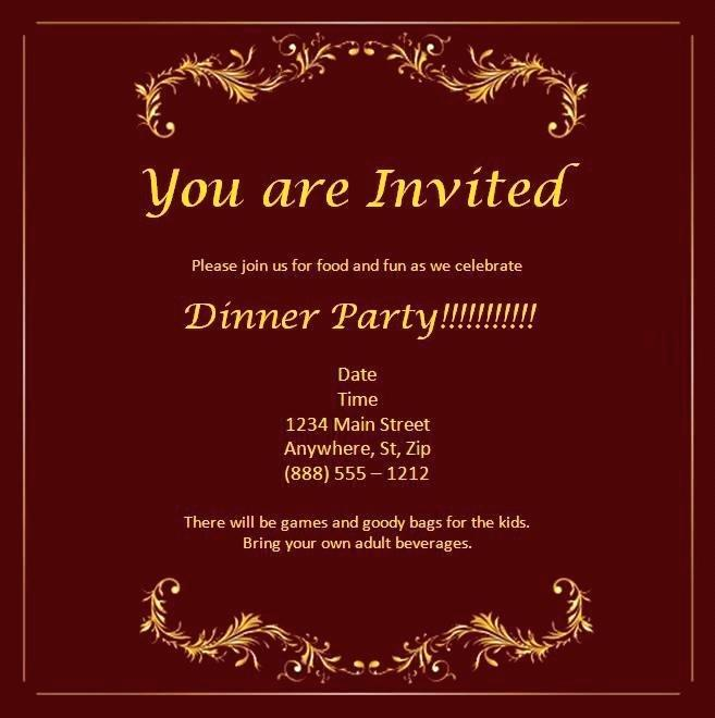 Formal Breakfast Invitation Template