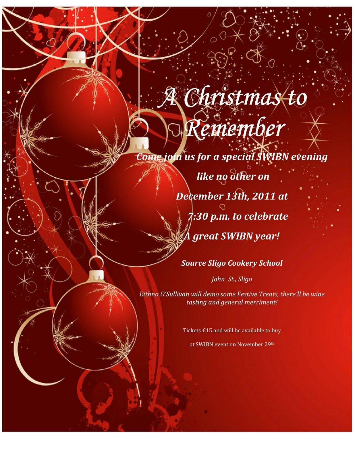 Formal Christmas Invitation Templates