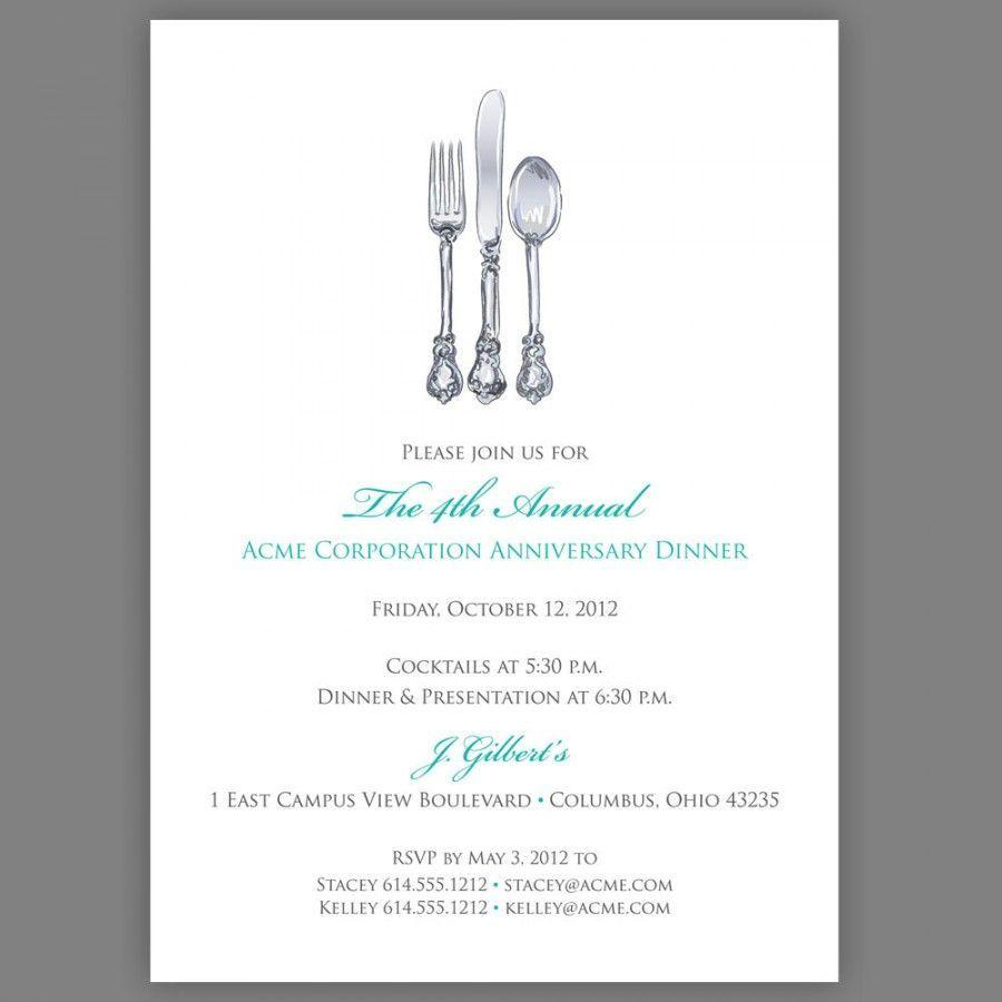 Formal Dinner Invitation Card Template