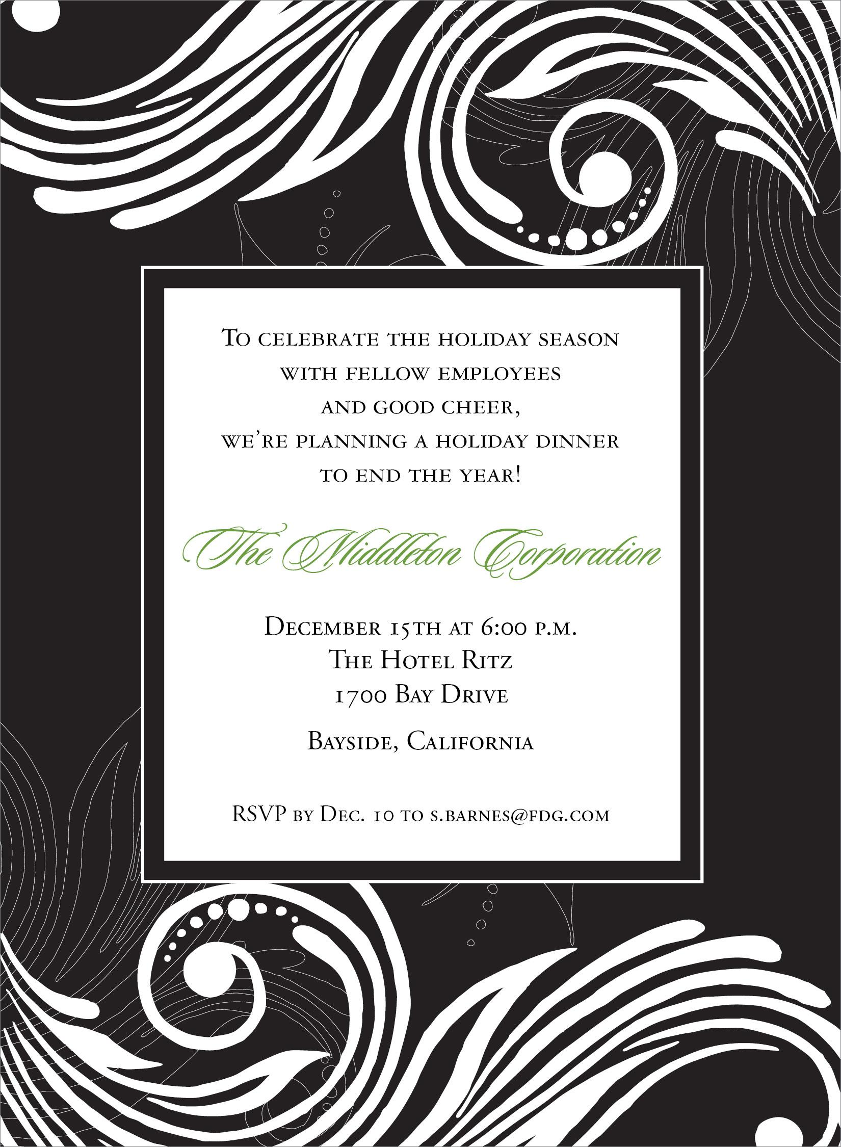Formal Dinner Invitation Templates