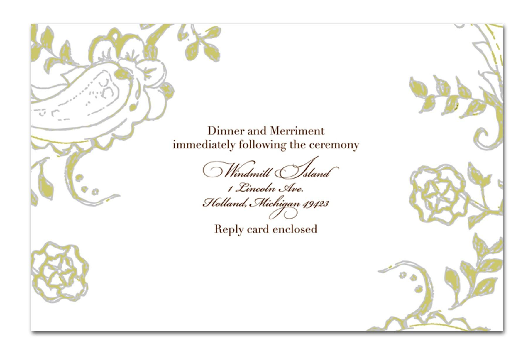 Formal Invitation Cards Templates