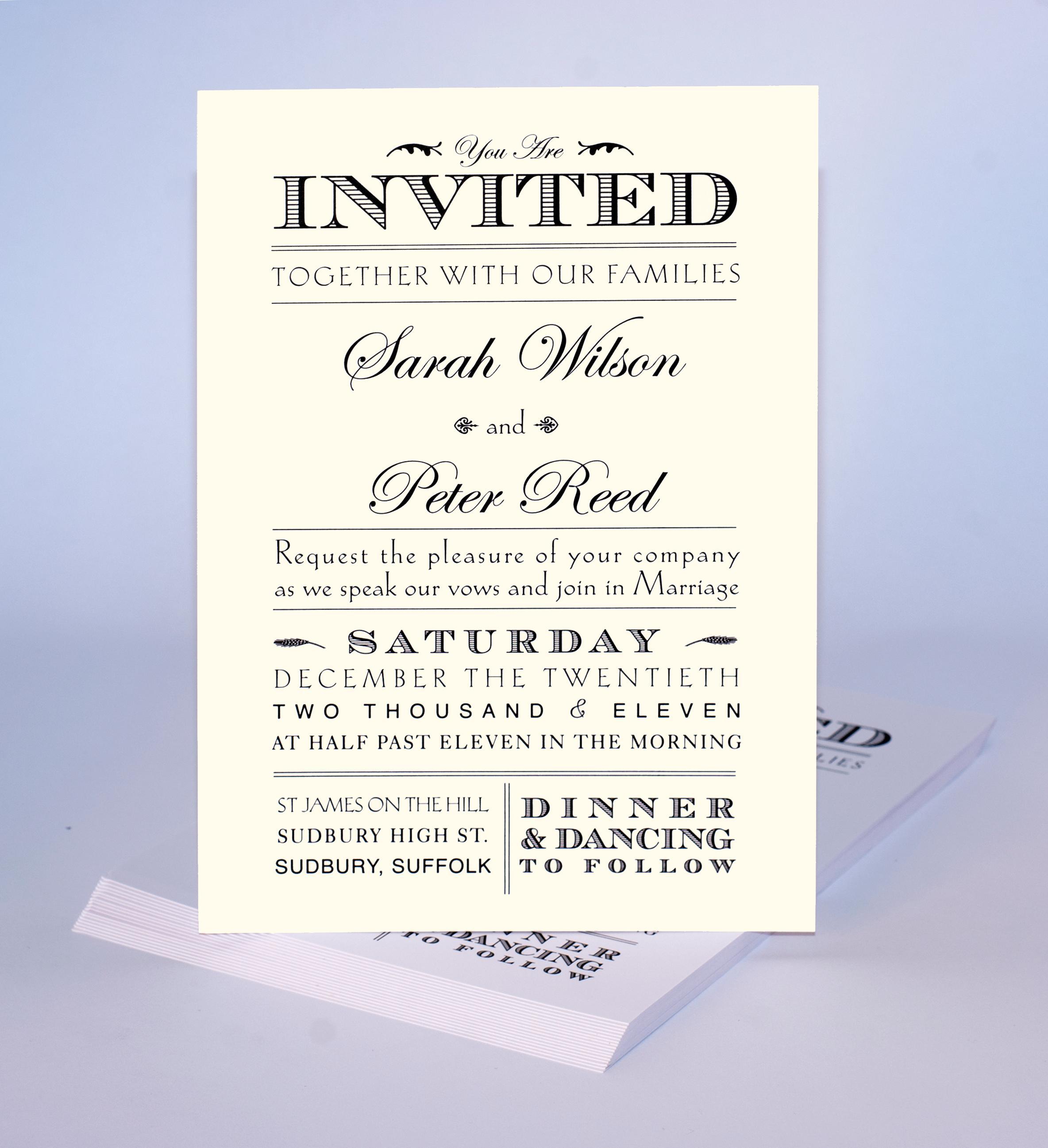 Formal Invitation Samples