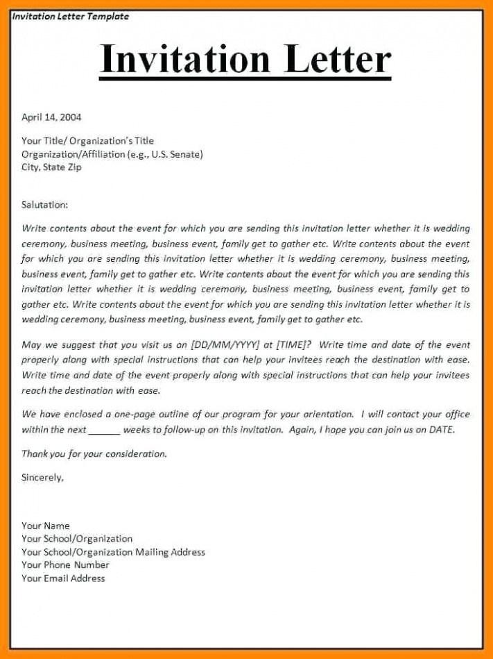 Formal Invitation Template Email
