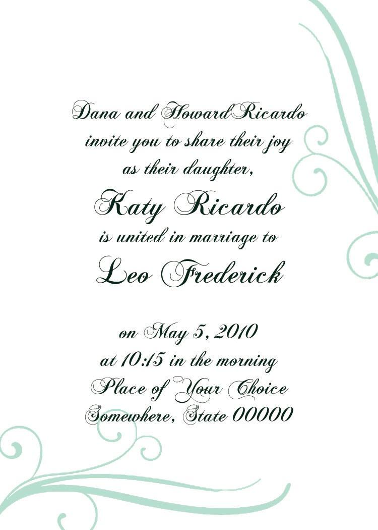 Formal Invitation Template Online