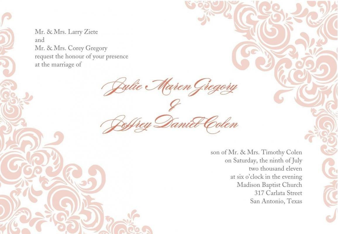Formal Invitation Templates Free