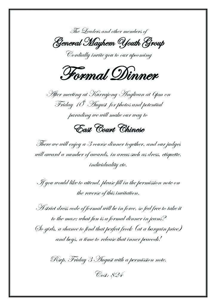 Formal Invite Word Template