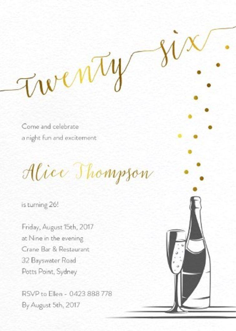 Formal Party Invitation Cards