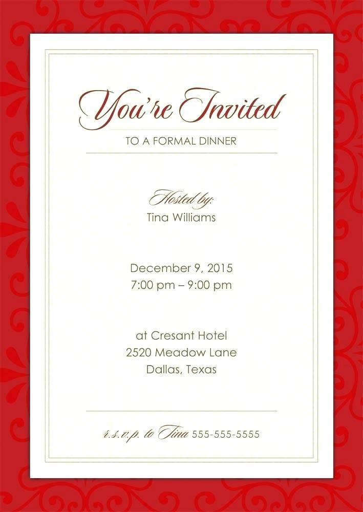 Formal Party Invitation Format