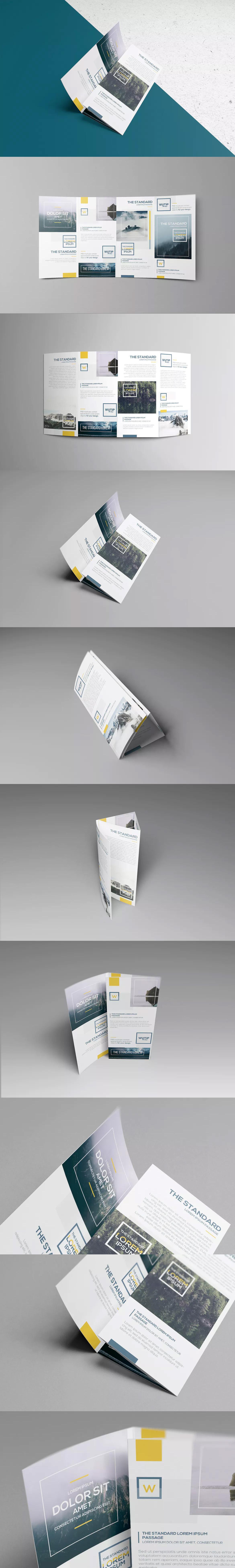 Four Fold Brochure Template Psd