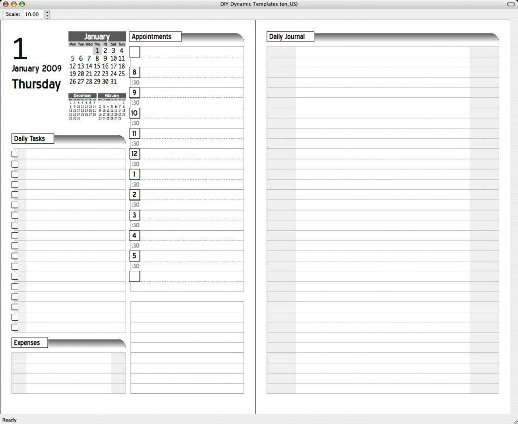 Franklin Covey Day Planner Template