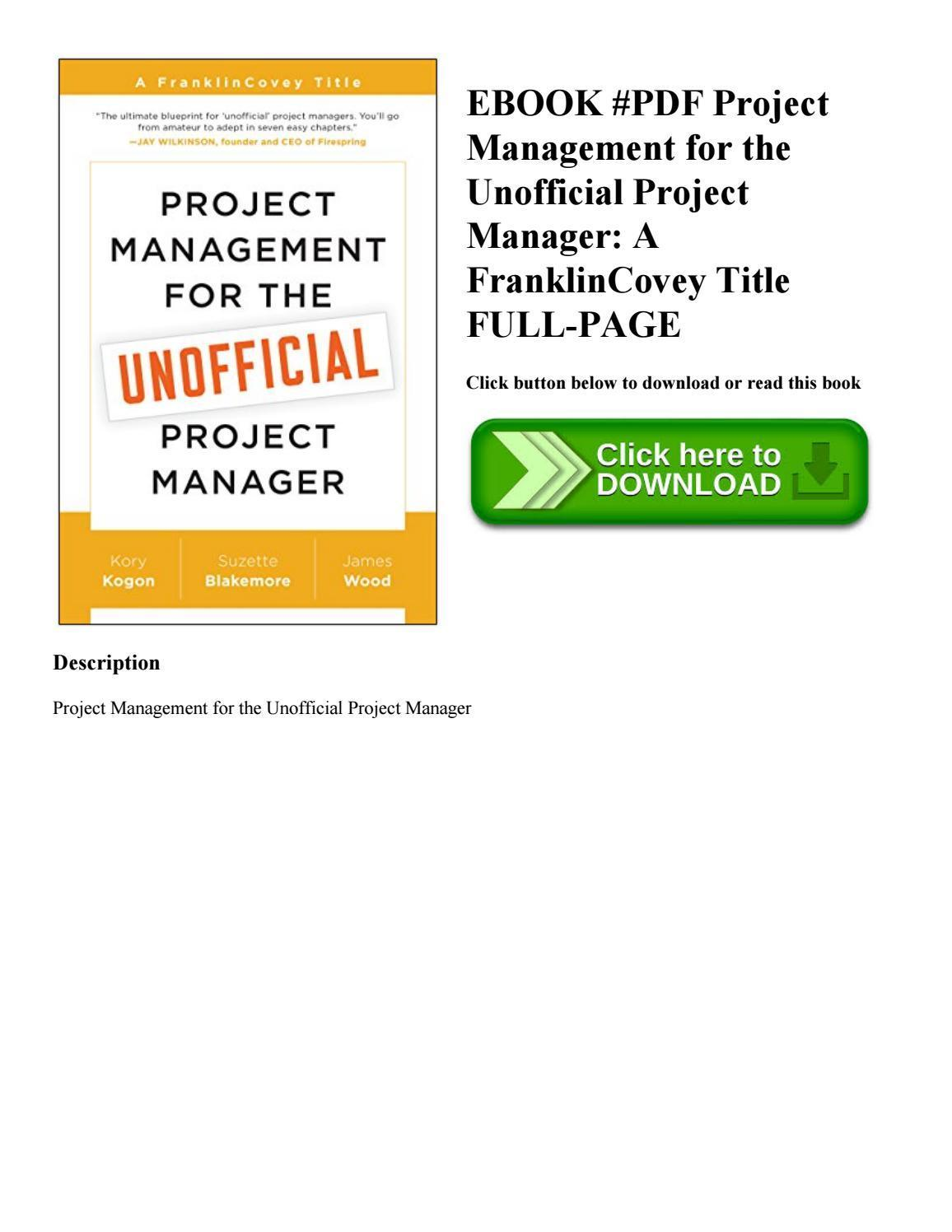 Franklin Covey Project Management Template