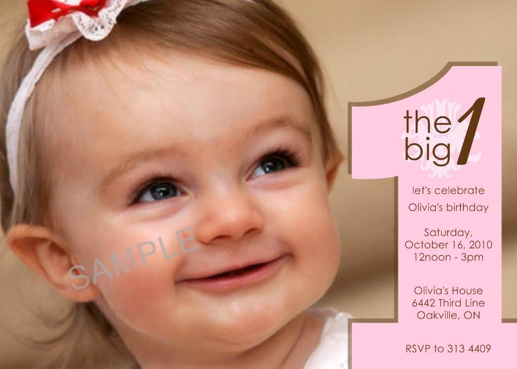 Free 1st Birthday Photo Invitation Templates Printable