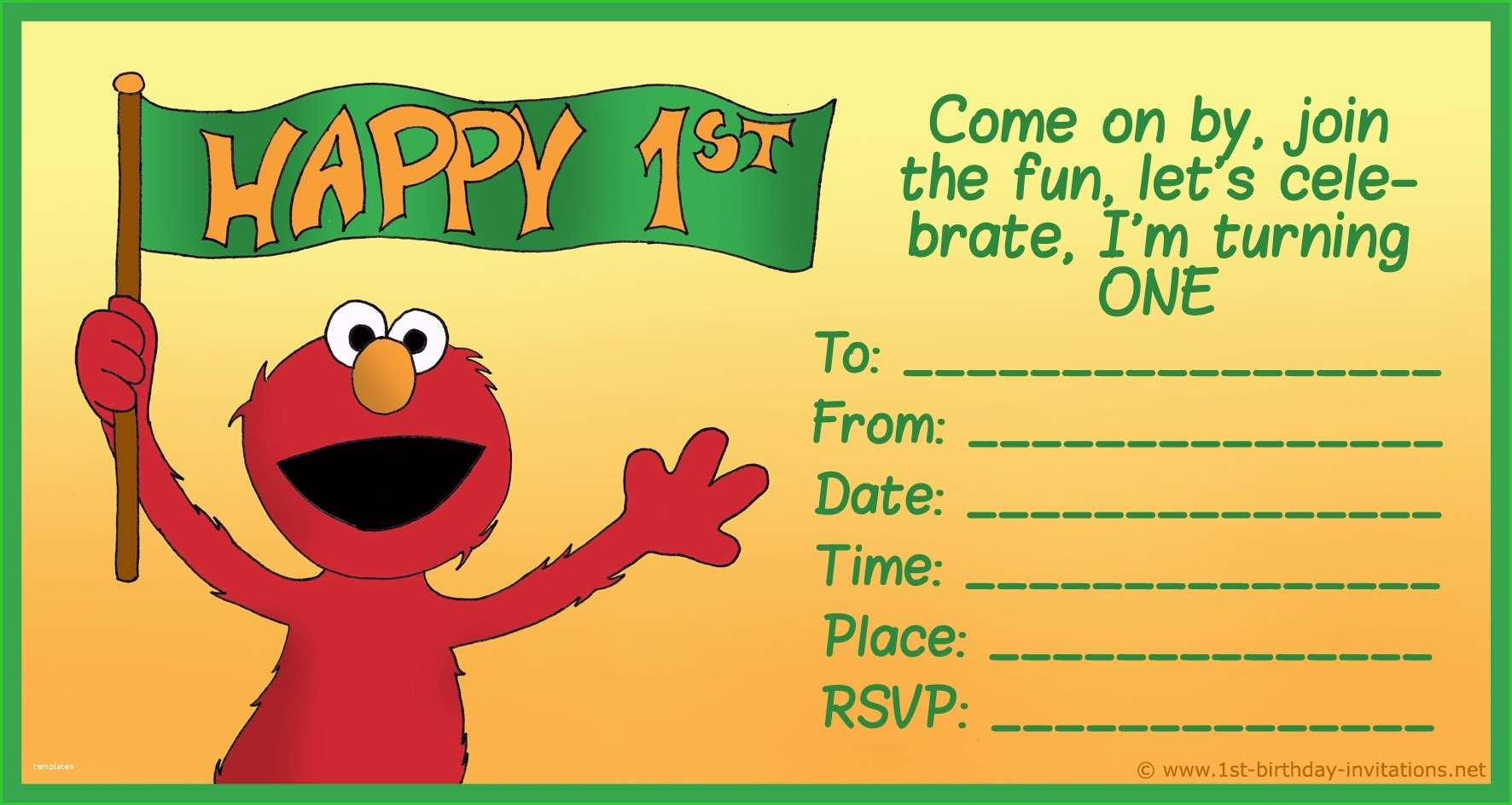 Free 1st Birthday Template Invitations