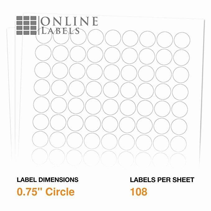 Free 2.5 Circle Label Template