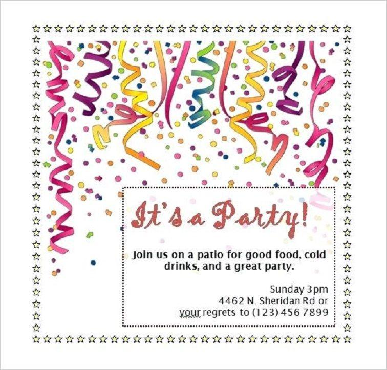 Free 21st Invitation Templates For Word