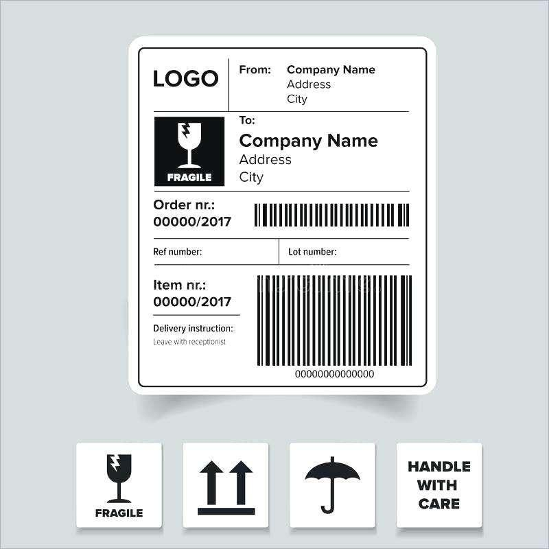 Free 2×4 Shipping Label Template