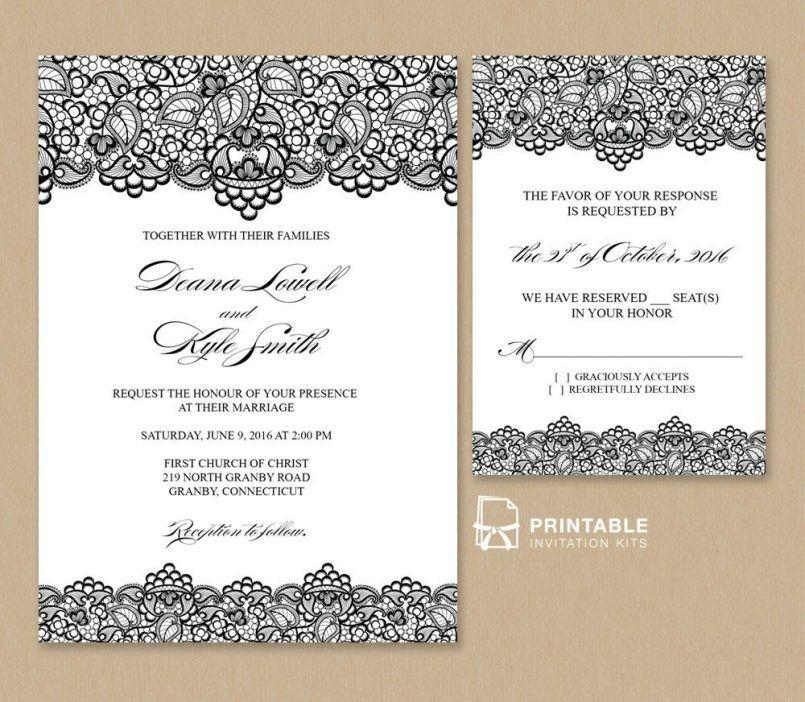 Free 4×6 Invitation Template