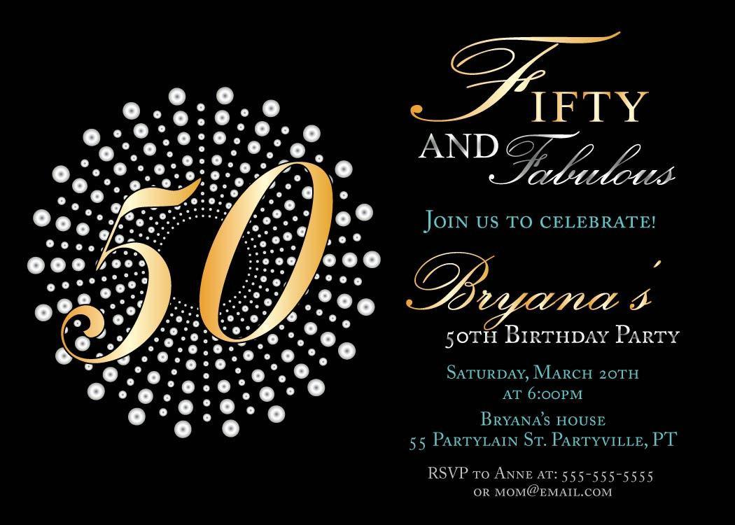 Free 50th Birthday Invitation Templates Printable