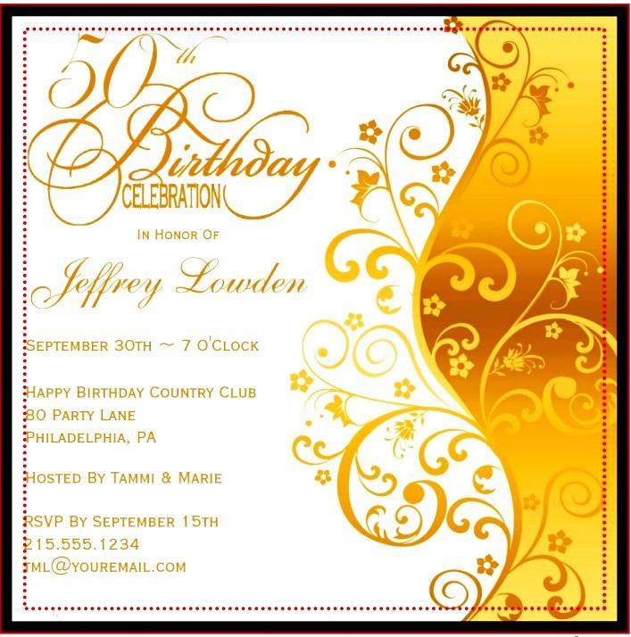 Free 60th Birthday Invitations Templates