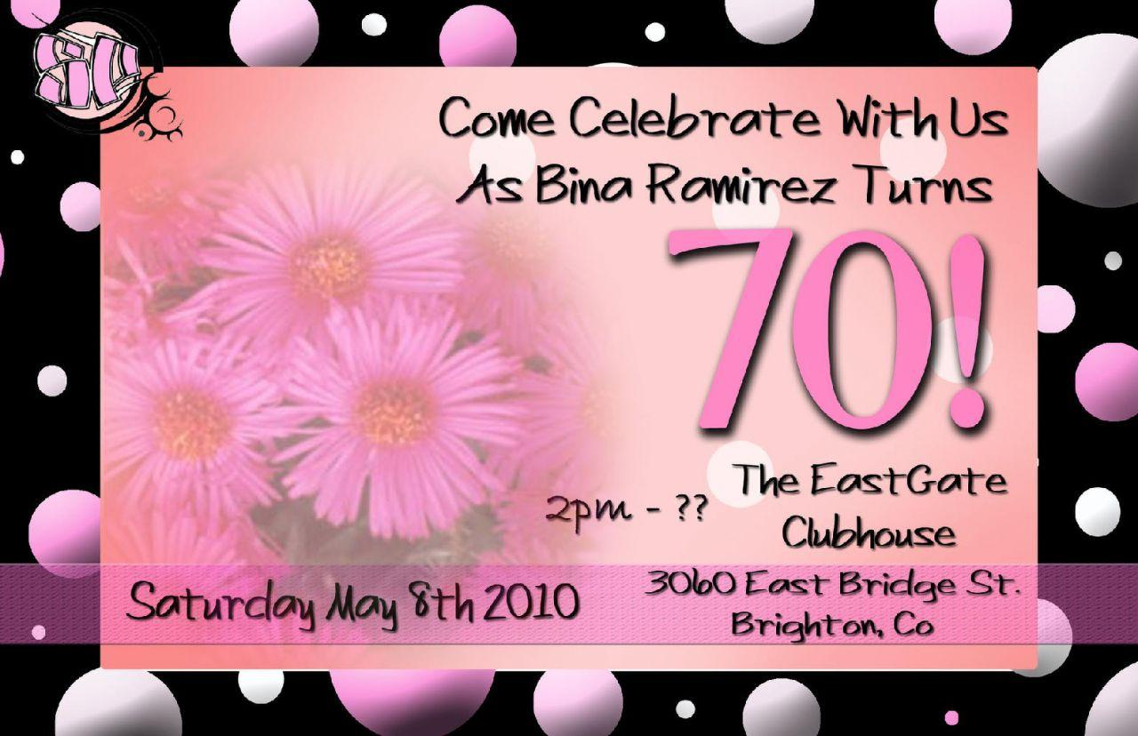Free 70th Birthday Invitations Templates