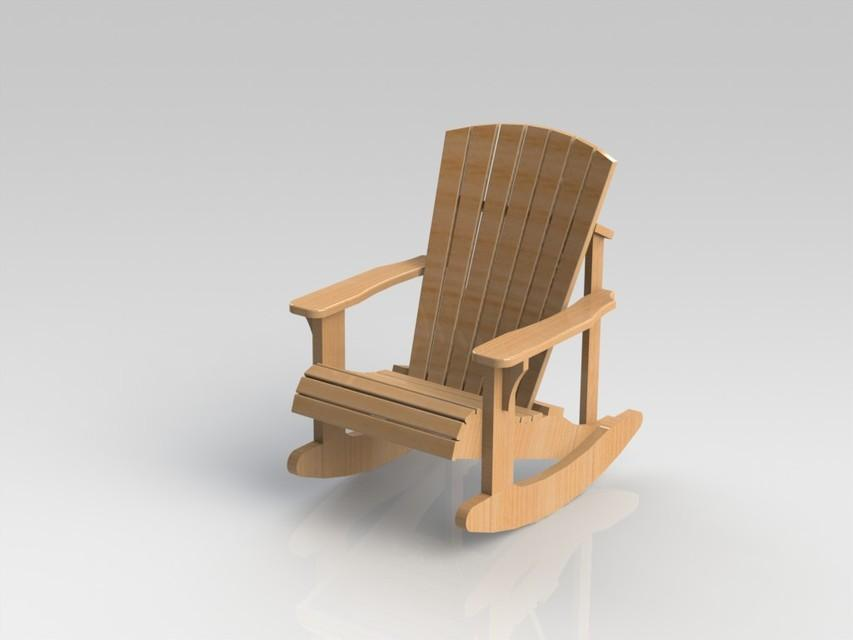 Free Adirondack Rocking Chair Plans & Templates