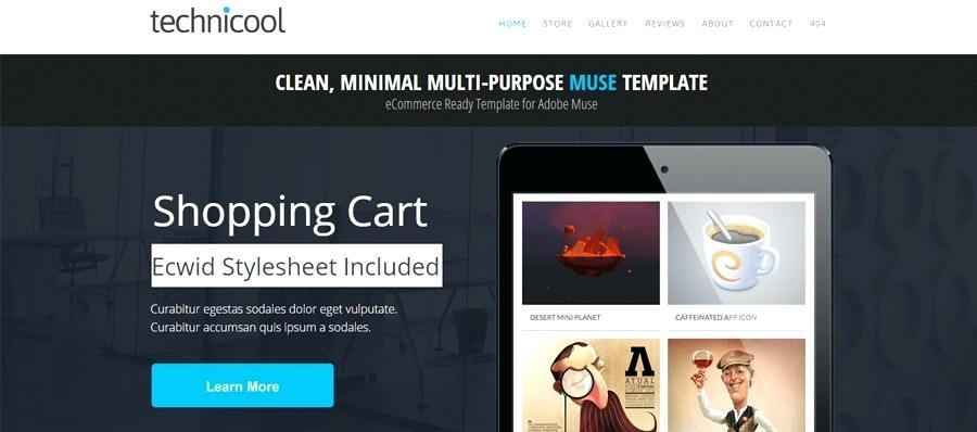 Free Adobe Muse Ecommerce Template